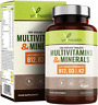 Vegan Multivitamins & Minerals with Vitamin D3, K2, B12 and Iron - 180 Tablets