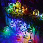 Moroccan Solar Garden String Lights Hanging Lantern Fairy Light Outdoor Romantic