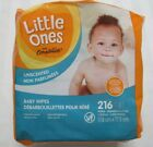 LITTLE ONES Unscented Alcohol-Free Baby Wipes Case of 3 Packs (216 Wipes Total)