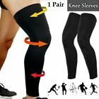 Compression Knee Sleeves 1 Pair Full Length Stretch Long Sleeve for Men Women