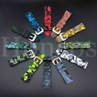 Bracelet Silicone Sport Band Watch Strap for Fossil Q  22mm Lug Smart Watch Camo
