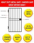 Heavy Duty Steel Security Door, Gate. Metal Garden Side Gate / Wrought Iron Gate