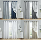 Kate Aurora Sobe Hotel Chic Sheer Blackout Curtains - Assorted Colors & Sizes