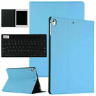 For iPad 10.2* Pro 11* 6th 9.7* 2018 Leather Tabket Case Smart Cover + Keyboard