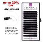 eyelash extensions Russian volume mink lashes Tdance self fanning easy fans mega