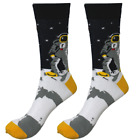 Mens Crew Socks Space Walk Sock Novelty Crazy Cool Funny Happy