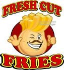 Fresh Cut Fries DECAL (Choose Your Size) French Food Truck Concession Sticker