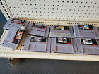 Lot of SNES Video Game Cartridges (Super Nintendo) Authentic Combine S/H & Save!