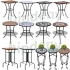 Garden Iron/Ceramic Side Coffee Bistro Table Mosaic Design Patio Plant Stand NEW