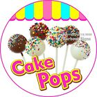 Cake Pops DECAL (Choose Your Size) Concession Food Vinyl Circle Sticker