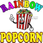Rainbow Popcorn DECAL Choose Your Size Concession Food Truck Sticker