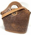 Vintage Tooled Leather Purse w/ Horses Leaves & Acorns-Mid Century-Rockabilly