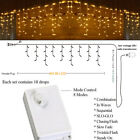 US Warm 4M 96 LED Fairy Curtain Icicle String Lights Christmas Xmas Party Decor