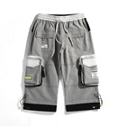 Quality Men Summer Casual Knee Length Cargo Shorts Bermuda Hip Hop Pants Trouser
