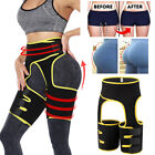 Neoprene Thigh Shaper High Waist Trimmer Belt Sauna Sweat Thermal Body Shaper image