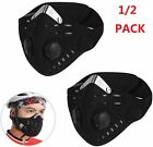 1/2 Reusable Face Mask Windproof Breathable Cycling Motorcycle Outdoor Anti-Haze