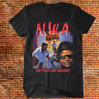 NWA T-shirt N.W.A 100 Miles And Running HIP HOP RAP Tee VTG-REPRINT compton image