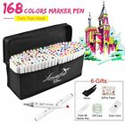 80-218-Color-Markers-Pen-Graphic-Art-Sketch-Twin-Tips-Fine-Point-Broad-Coloring