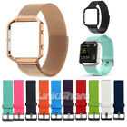 For Fitbit Blaze Sport Silicone Milanese Watch Band Wrist Strap Bracelet Frame o