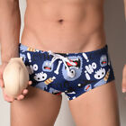 Men's Boxer Briefs Shorts Graphic Boxers Flag Cartoon Print Padded Trunks Panty