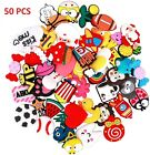 50 Mixed Pvc Shoecharm Lot Different Shoe Charms For Croc And Wristband Gifts