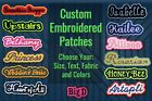 Custom Embroidered Patch Personalized Name Or Text Iron On/sew On With Outline