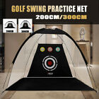 2M/3M Golf Driving Cage Practice Net Outdoor Indoor Golf Hitting Net Trainer Aid