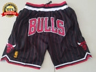 New Chicago Bulls Black/Red Throwback Just Don Chicago Men's Basketball Shorts