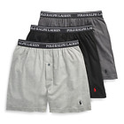 Polo Ralph Lauren 3 PACK KNIT BOXERS Black Classic Reinvented Underwear NWT  $42