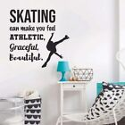 Graceful Ice Skating Quote Sport Wall Sticker Vinyl Art Home Room Decal Decor