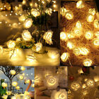 Home Decor Christmas Fairy Lamp Aa Battery Led Flower Rose Lights String