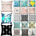 Geometric Pattern Sofa Pillow Case Cushion Cover Couch Seat Home Car Ded Decor image