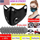 Reusable Face Mask Breathing Valves With Activated Carbon Filter Pad Mouth Cover