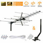 Outdoor Yagi HDTV Antenna Amplified Digital VHF UHF TV Mounting Pole 40 ft Cable