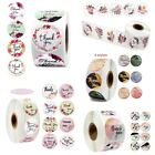 500 Pcs Thank You Stickers Roll Seal Labels 1 inch US Seller Fast Shipping