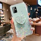 For Samsung Galaxy A71 A70 A51 A50 A20 S20 Note10 Glitter Bling Heart Case Cover