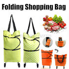 Foldable Trolley Bag Folding Shopping Bag Cart With Wheels Portable Luggage New