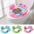 Baby Handle Toilet Seat Soft Pad Portable Frog Cushion Trainer Potty Training image