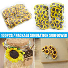 100pcs Artificial Sunflower Fake Paper Sunflower Wedding Party Home Decoration