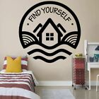 Find Yourself Cabin Cabins Quote Wall Sticker Home Room Vinyl Art Decal Decor