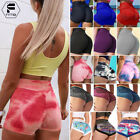 Women Ruched High Waist Butt Lift Booty Shorts Gym Sport Fitness Yoga Hot Pant G