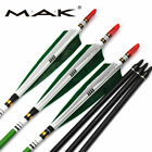6/12pcs Archery Hunting Arrows Turkey Feather Spine 500 Carbon Shaft Target Bow