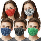 5 Pack Mix Unisex Paisley Face Mask Washable Reusable Breathable Protective