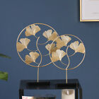 Nordic Wrought Iron Golden Ginkgo Turtle Leaf Home Decor Table Ornaments Gifts
