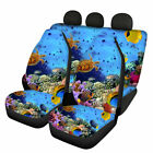 Ocean Animals Seat Covers for Car Front & Rear Auto Interior Decor Set Protector