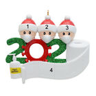 2020 Quarantined at Home Family Of 3 Personalized  Tree Christmas Ornament