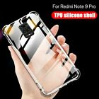 For Xiaomi Redmi Note 9 Pro 9S 7 8 Pro 8T 8A Shockproof Clear TPU Silicone Case