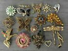 Costume Pin Brooch Lot Sparkle Hummingbird Pink