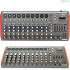 Portable Bluetooth Mixer Sound Mixing Console MG8 MG12 12 Channel Live Mixer USB
