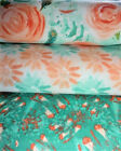 1%2F2+MTR+FLORAL+QUILTING+FABRIC%2C+TEAL+AND+PEACH%2C+3+DESIGNS%2C+QUILTS%2C+BAGS%2C+CRAFTS